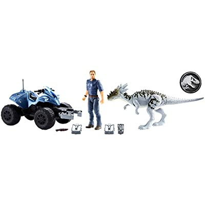 Jurassic World Deluxe Story Pack Off-Road Tracker ATV: Toys & Games