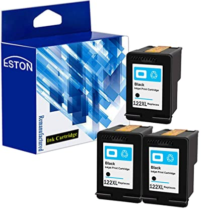 Eston 3 Pack # 122 XL negro de tinta para HP DeskJet 1000 1050 ...