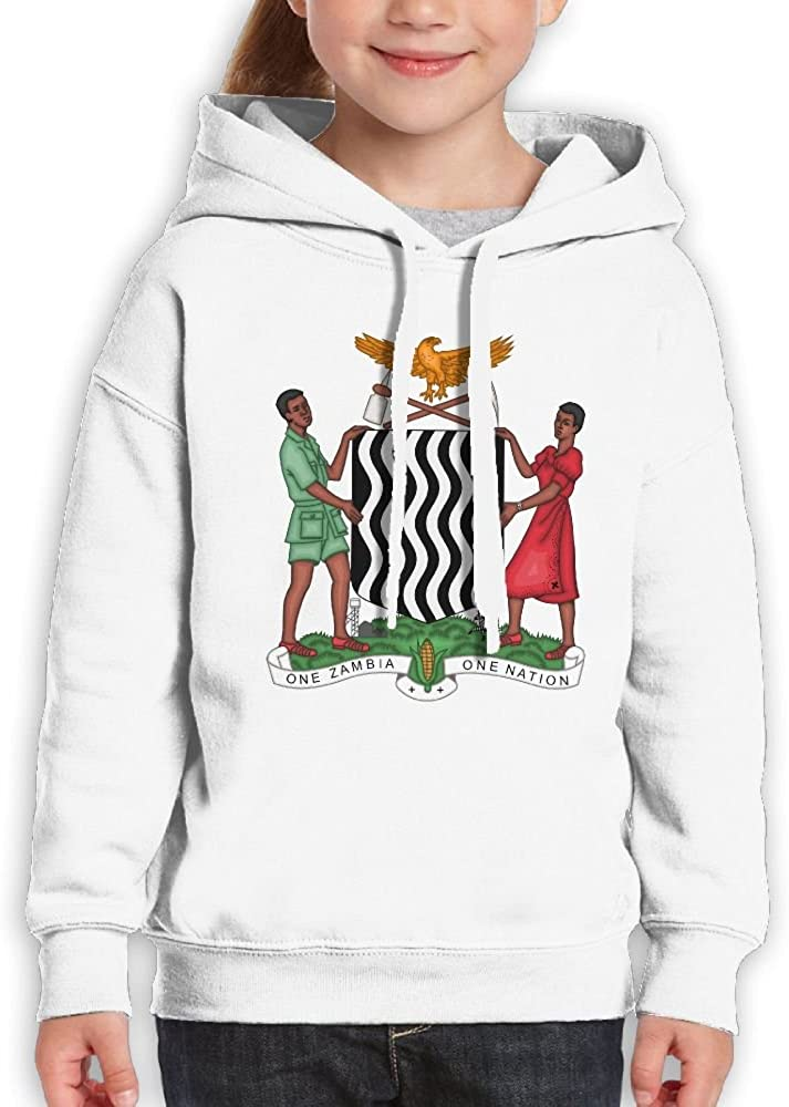DTMN7 Coat Of Arms Of Zambia Cute Printed Cotton Blouses For Kids Unisex Spring Autumn Winter