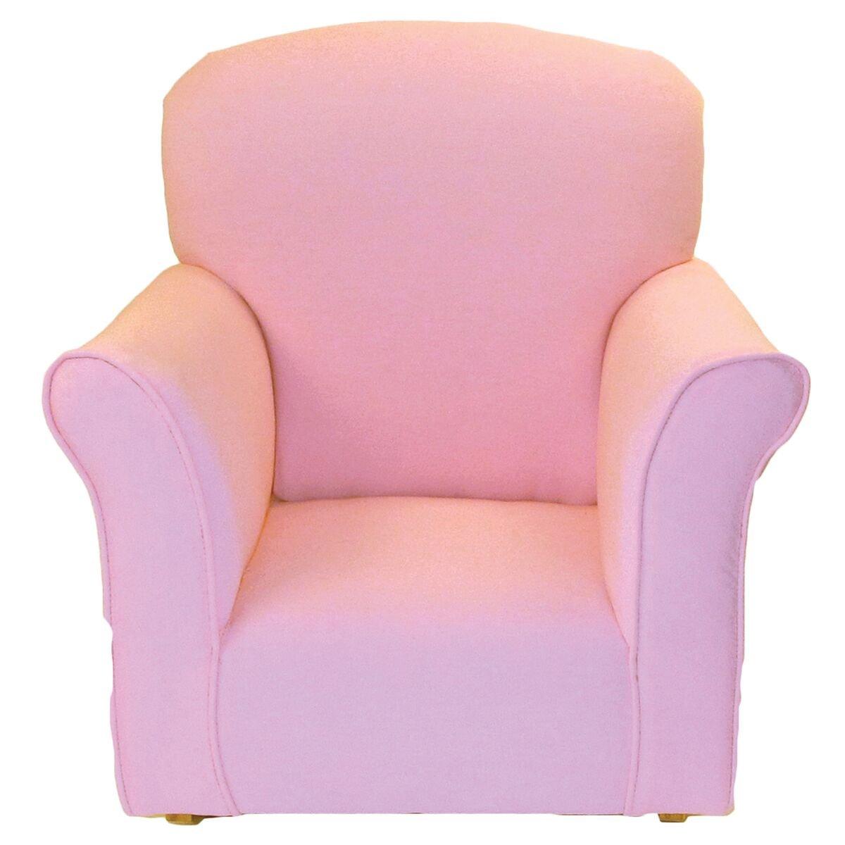 Brighton Home Furniture Toddler Rocker in Baby Pink Cotton
