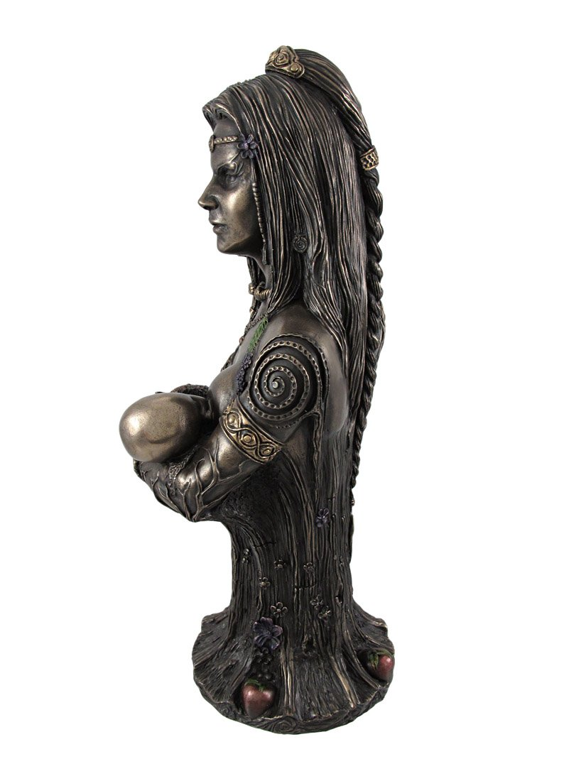 Veronese Design Bronze Breastfeeding Goddess Danu Mother Earth Bust Statue