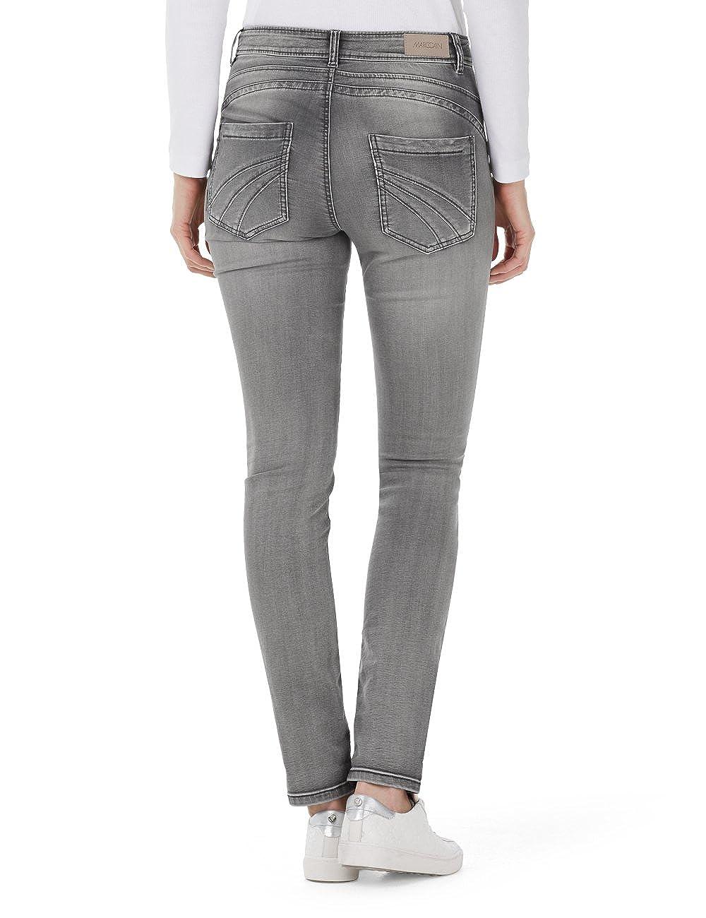 Marc Cain Essentials Damen Jeanshose +E8270D06, Grau (Grey