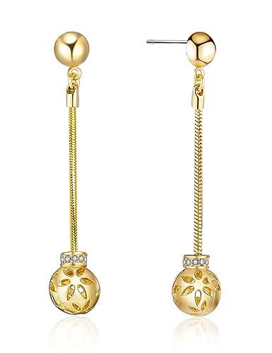 e00e8e4a6102 XZP Hollow Out Ball Drop Earrings With Crystal form Swarovski for Women