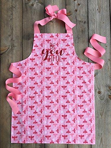 Pink Tween Girl Apron for Crafting Art or Baking from Sara Sews