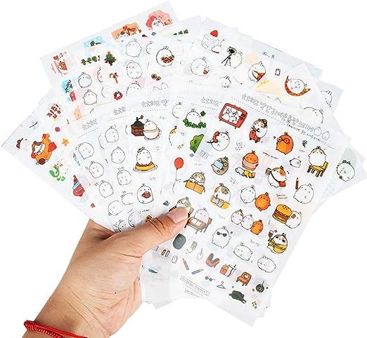 Fliyeong - Pack de 6 pegatinas de PVC para decoración de libros ...