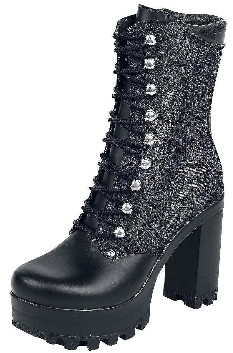 Steelground schuhe schwarz Grain Leather Baroque Stiefel Stiefel schwarz