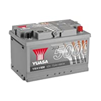 Yuasa YBX5100 High Performance Starter Battery, Silver