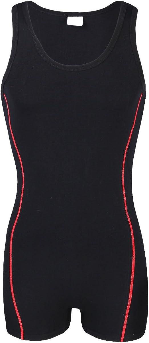 Mens Stretchy Wrestling Singlet Bodysuit Leotard Solid One Piece Boxer Jumpsuit Gym Sportswear