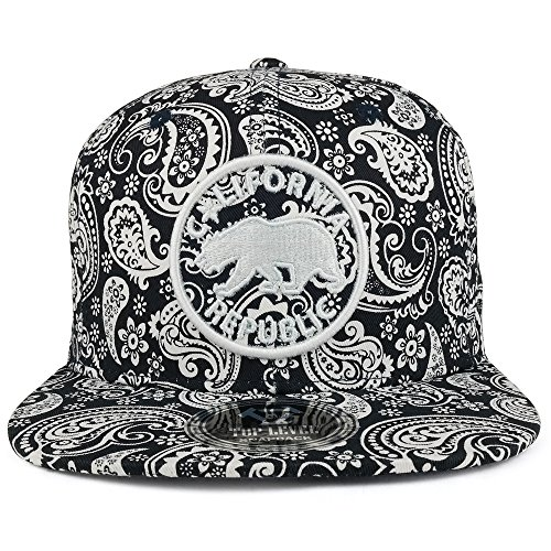 Embroidered Print Hat - 6