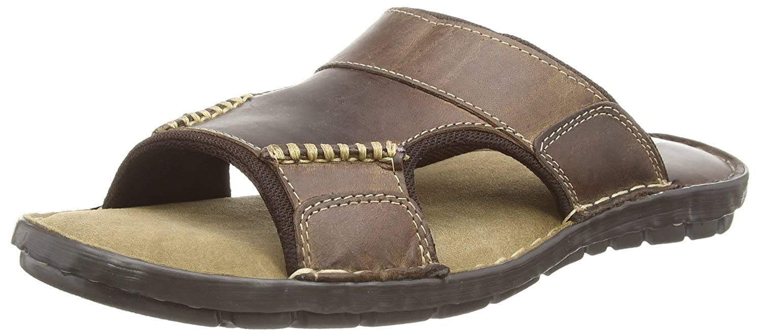 f61aea559f457 Ale Mens Slip On Slide Brown Leather Mules Sandals (6 UK, Brown): Amazon.co. uk: Shoes & Bags