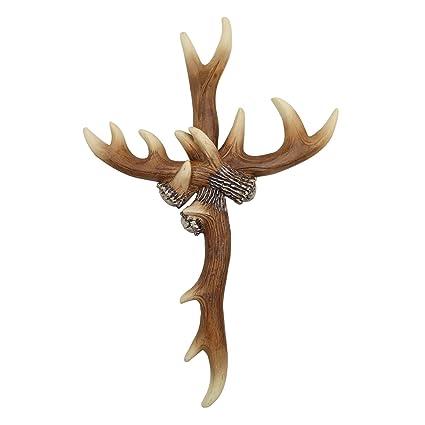 D.Jacware Deer Antler Wall Cross