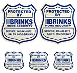 2 Home Security Yard Signs w/ 3 Security stickers for doors and windows