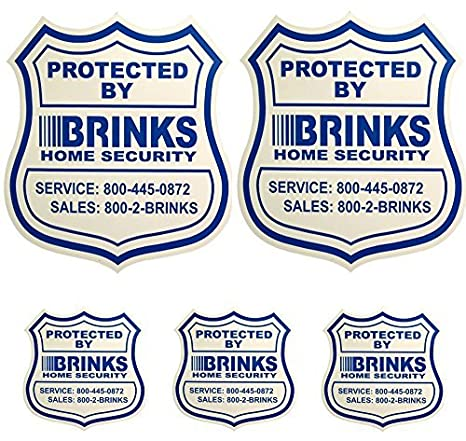 2 Home Security Yard Signs W 3 Security Stickers For Doors And Windows