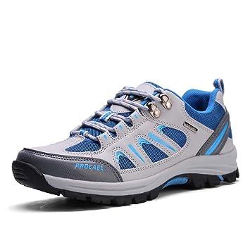 Zapatos De Trekking De Los Hombres Zapatillas De Deporte para Hombre Antideslizante Sendero para Escalar Zapatillas De Corriendo Malla Transpirable Superior ...