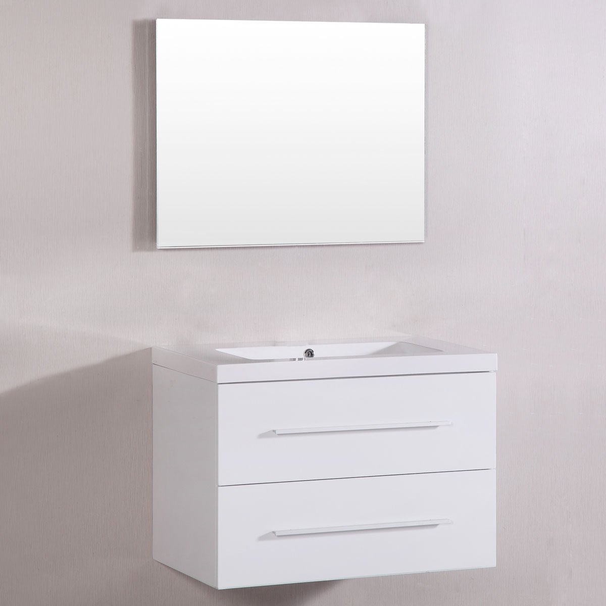 Decoraport 40 In. MDF Bathroom Vanity Set with Single Sink and Mirror (A-TM8120S)