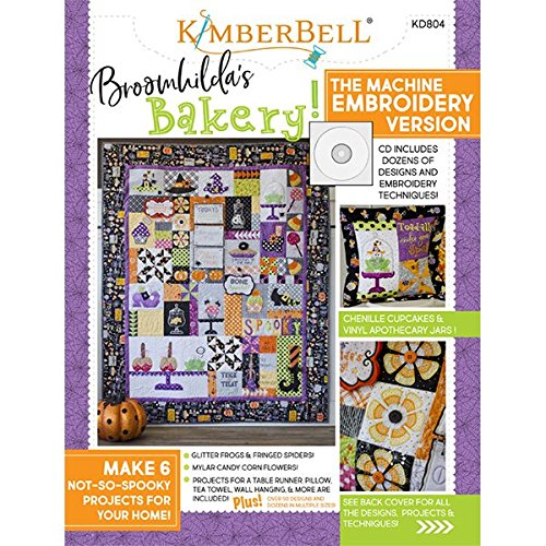 Kimberbell Designs: BROOMHILDA's BAKERY Embroidery CD & Book (Star Bakery)