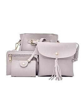 Ruior 4pcs Women Fashion Composite Bag Handbag Wallet Shoulder Crossbody Bags Shoulder Bags