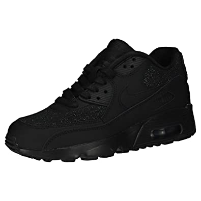 new style d6f39 460d8 Nike Air Max 90 Se Mesh (GS), Sneakers Basses Femme, Noir Black