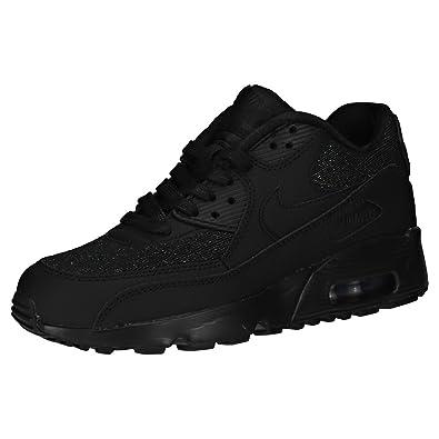 new style 7f872 f504c Nike Air Max 90 Se Mesh (GS), Sneakers Basses Femme, Noir Black