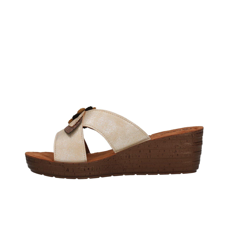 INBLU Glamour, Sandali Sabbia con Cinturino alla Caviglia Donna Sabbia Sandali 907680