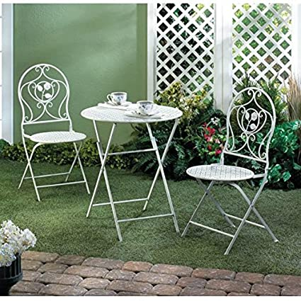 Exceptional Gallery Of Light Inc White Iron Patio Bistro Set