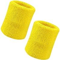 Vidillo Zweetband, pols zweetband 2 Pack, 4 inch sport zweetband polsband zacht dik katoen, voor tennis gymnastiek…