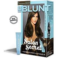 BBLUNT Salon Secret High Shine Creme Hair Colour, Coffee Natural Brown 4.31, 100g with Shine Tonic, 8ml