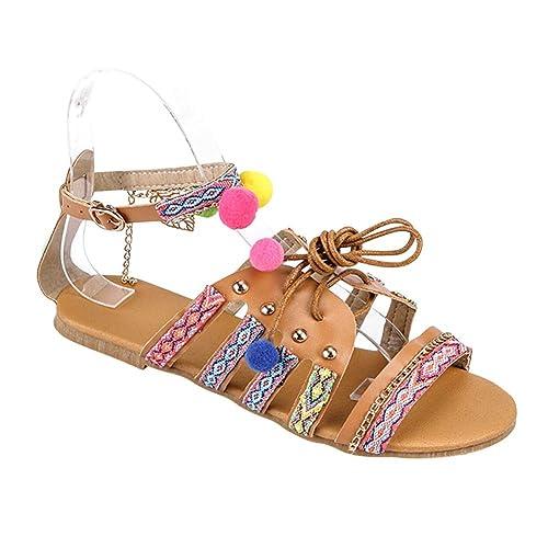 Amazon.com: uirend - Sandalias de verano bohemia para mujer ...