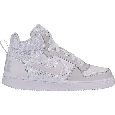 super popular 1a0d0 7583c Nike Court Borough Mid (GS), Chaussures de Basketball Femme, Multicolore  White/