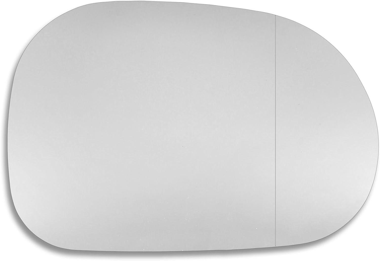 RECHTS Seite Au/ßenspiegel Glas MEML Echtglas T/ür Stick auf Spiegel Ersatz Treiber Seite Quick Fix Silber #