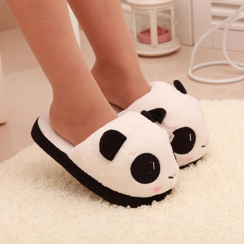 Creazy Women Panda Winter Warm Plush Antiskid Indoor Home Slippers