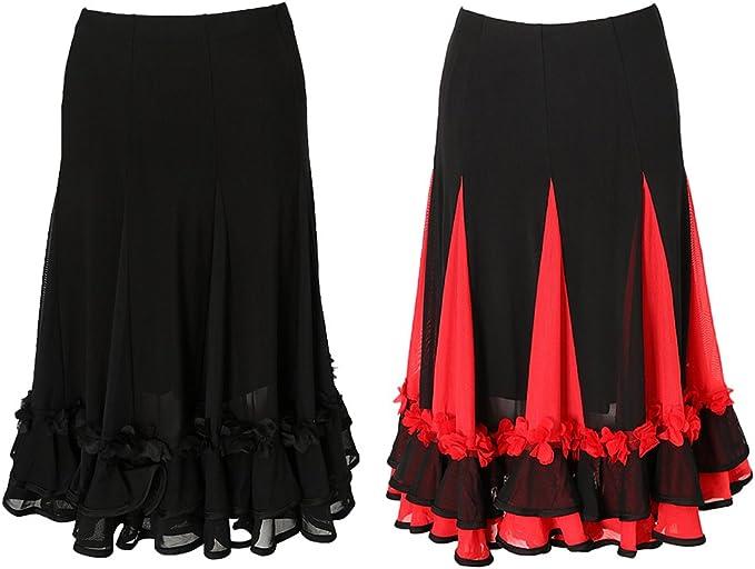 non-brand Sharplace 2x Falda Vaquera Mujer Baile Moderno Vals ...