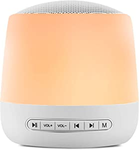 White Noise Machine Sleep Sound Machine for Baby Kid Adult with 28 Non-Looping Soothing Sounds Night Light USB Rechargeable Timer & Memory Feature Noise Machine for Sleeping Use in Home Office Travel
