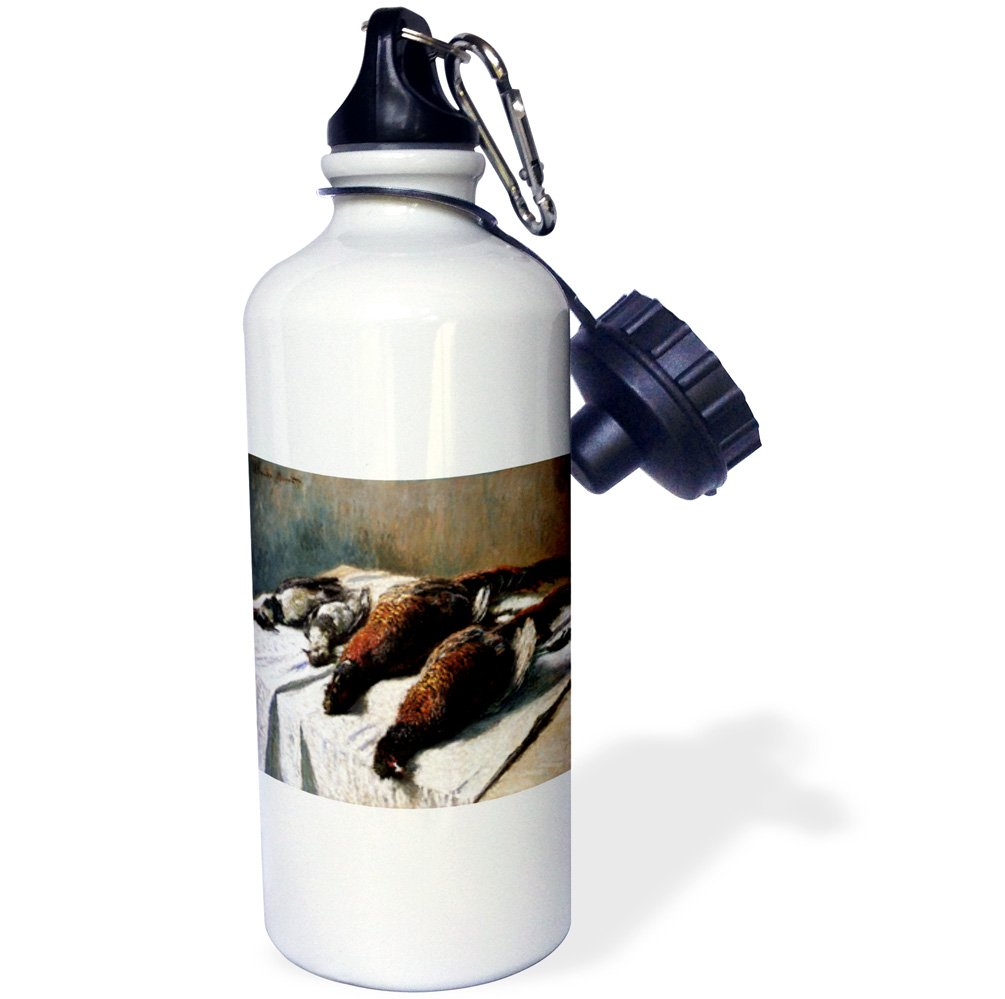 PD-US-Sports Water Bottle 21 oz Multicolor 21oz Claude Monet Painting Dated 1879 3dRose Pheasants and Plovers wb/_179234/_1