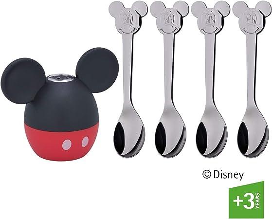 WMF 1 Eierbecher mit Löffel Mickey Mouse Neu Set 2 tlg