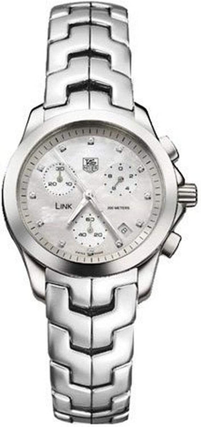 TAG Heuer Women's CJF1310.BA0580 Link Chronograph Mother of Pearl Watch
