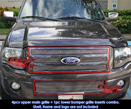 Fits 2007-2013 Ford Expedition Vertical Billet Grille Grill Insert Combo # (Expedition Vertical Grille)