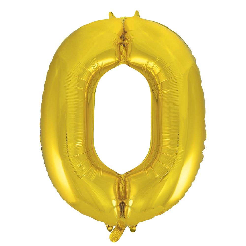 34 Foil Gold Number 0 Balloon Unique 53830