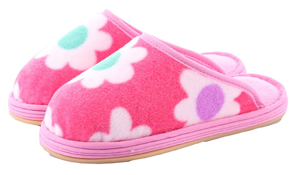 D.S.mor Toddler Flower Warm Winter Slippers Home Slippers Cute Slippers