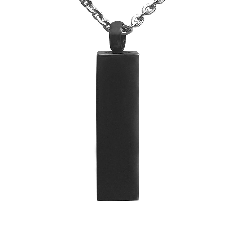 Urn Pendant-ElecNova Rectangle Urn Pendant Locket Necklace Ashes Memorial Keepsake Stainless Steel (Type A)