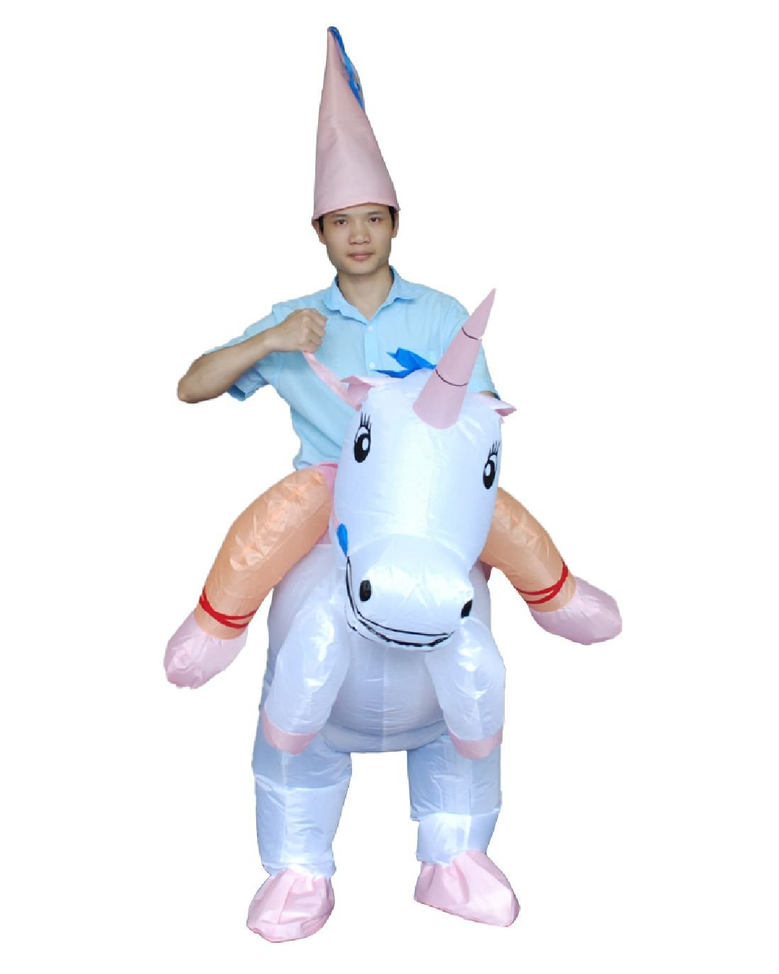 Inflatable Unicorn Costume Fan Blowing Suits Carnival Costumes