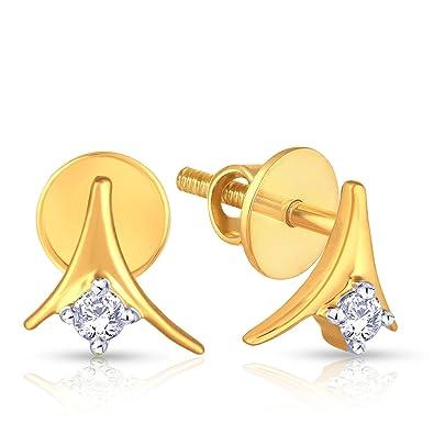 24b9cc466fa7e Buy Malabar Gold and Diamonds 18KT Yellow Gold and Diamond Stud ...