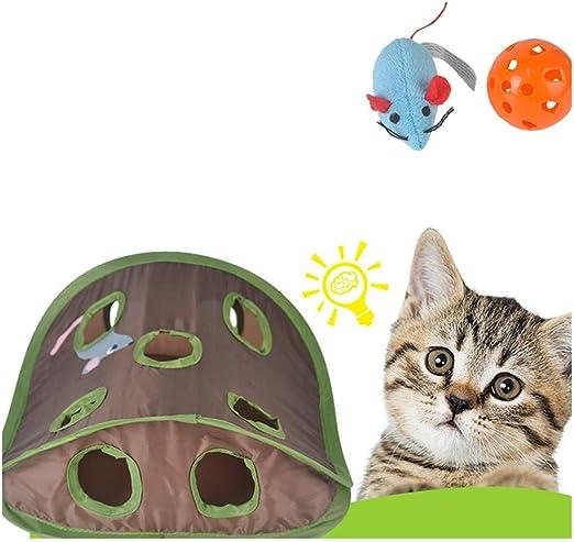 qisong Artículos para Mascotas, Juguetes para Gatos, Campanas, Bolas para atrapar, Rompecabezas, Juegos, Nueve Hoyos, Agujeros para Ratones: Amazon.es: Productos para mascotas