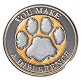 You Make a Difference Gold Appreciation Award Lapel Pins, 12 Pins