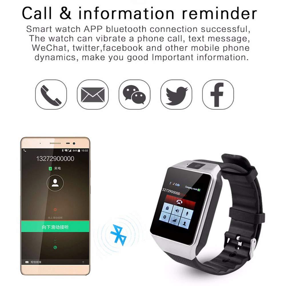 Amazon.com : ARTEMISES Bluetooth Smart Watch DZ09 Relojes ...