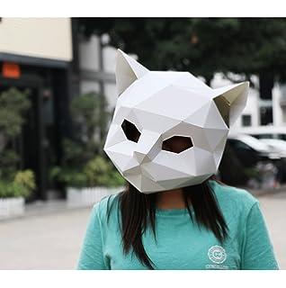Chimp 3D Card Animal mask  DIY craft Mask making Kit, party costumes