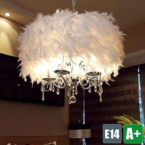 Modern araña, color blanco Muelle pantalla para lámpara de techo ...