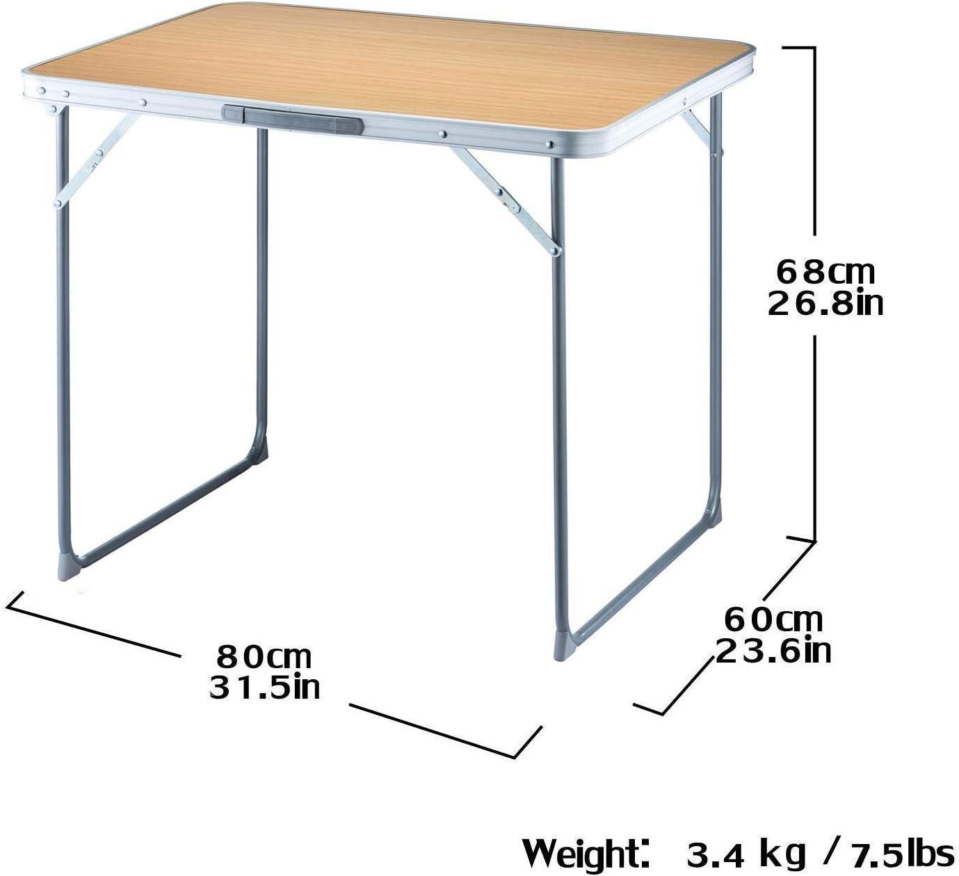 MQQ Plegables portátiles Tablas Mesa de Camping Ultraligero Plegable Mesa de jardín con Mango, el Marco de Acero Reforzado fácil de Llevar y Limpio: Amazon.es: Hogar