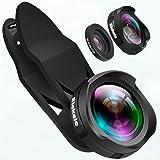 0.6X Super granangular y 4 k pixel HD la lente macro Lentes de Movíl Ángulo Amplio Ojo de Pez Se aplica a cualquier smartphone