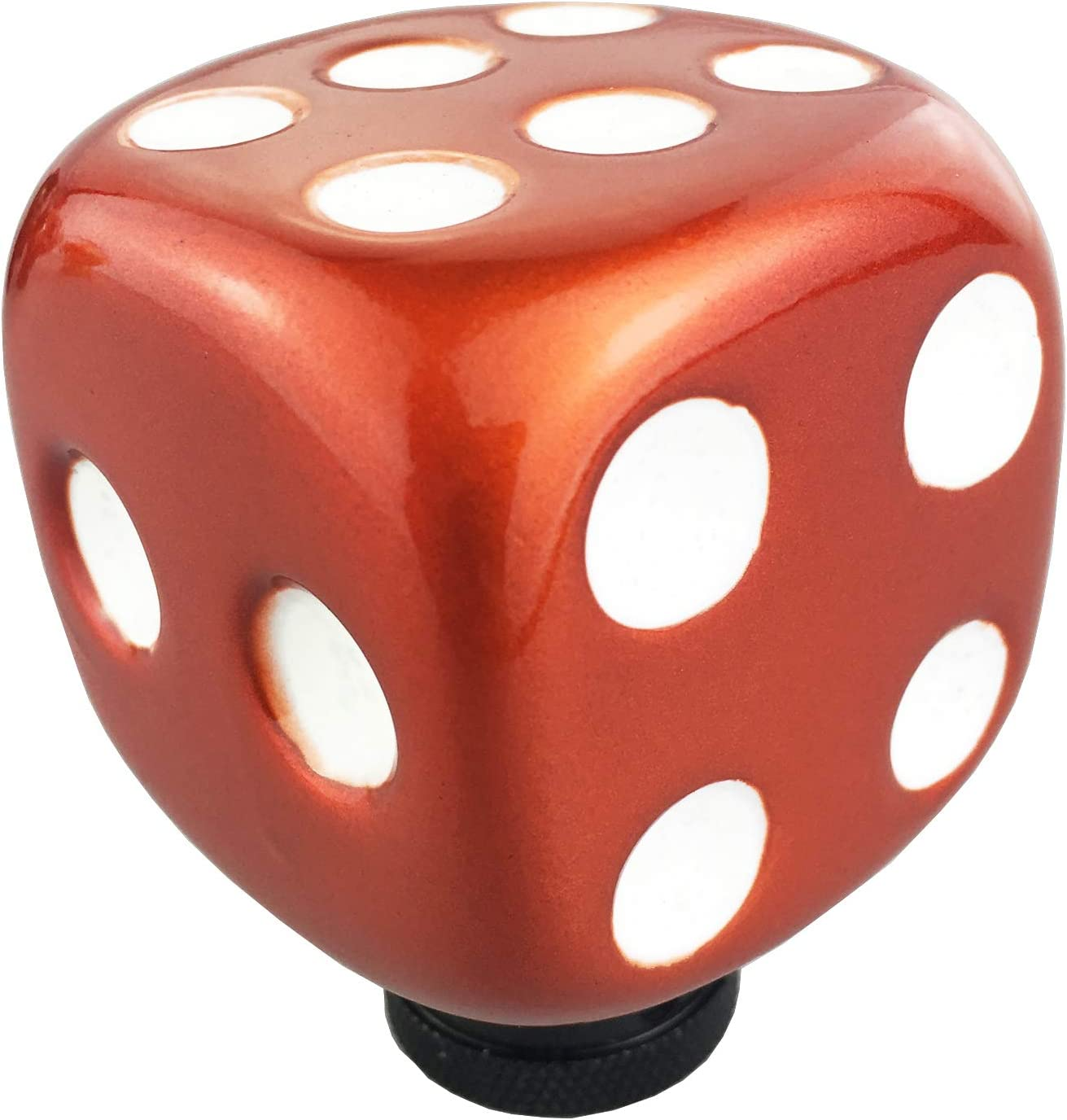 White Arenbel Dice Gear Shifter Knob Shifting Stick Shift Head Lever Shifter Handle fit Most MT at (Orange
